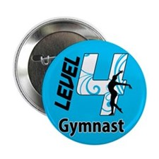 "Blue Level 4 Gymnast 2.25"" Button (10 pack)"
