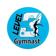 "Blue Level 3 Gymnast 3.5"" Button (100 pack)"