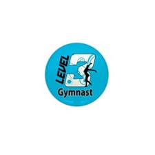 Blue Level 3 Gymnast Mini Button (100 pack)
