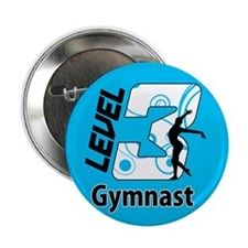 "Blue Level 3 Gymnast 2.25"" Button (100 pack)"