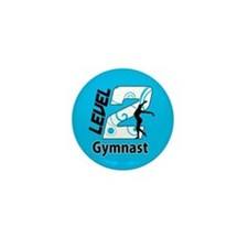 Blue Level 2 Gymnast Mini Button