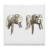 dressage hands Tile Coaster