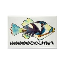 HumuNuku Fish Rectangle Magnet