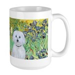 Irises / Maltaese (B) Large Mug