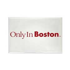 Only In Boston - Classic Red Rectangle Magnet (10