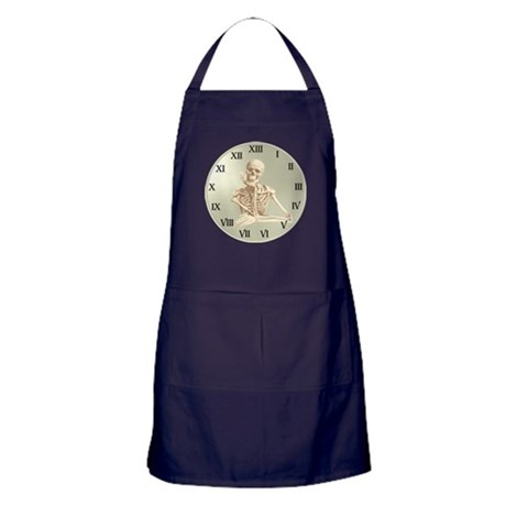 13 Hour Skeleton Clock Apron (dark)