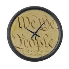 We The People I Large Wall Clock