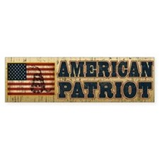 American Patriot Bumper Sticker