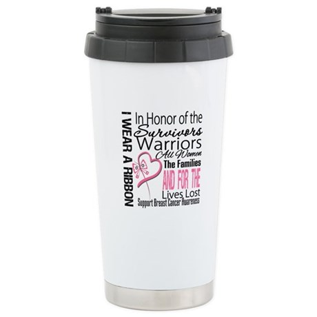 Breast Cancer In Honor Ceramic Travel Mug