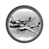 P-38 In Flight Wall Clock