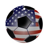 US Flag Soccer Ball Ornament (Round)