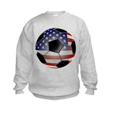 US Flag Soccer Ball Sweatshirt