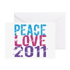 peace love 2011 Greeting Card