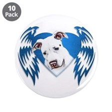 "Bully Tribal Heart Wings 3.5"" Button (10 pack)"