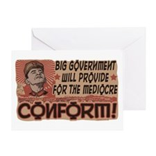 Conform! Anti-Obama Greeting Card