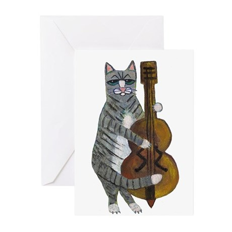 Cat and Cello Greeting Cards (Pk of 10)