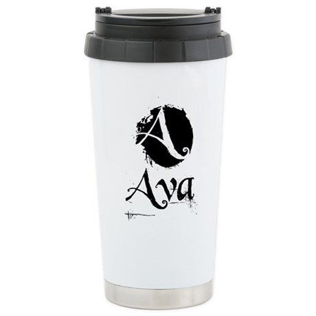 Ava Grunge Ceramic Travel Mug