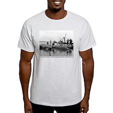 P-38 Crash Ash Grey T-Shirt