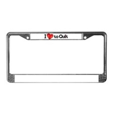 Unique Quilters License Plate Frame