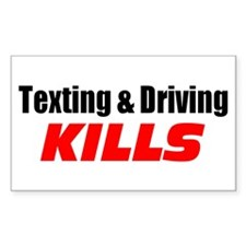 Texting & Driving Kills Decal