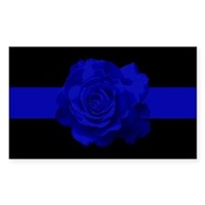 PoliceWives Blue Rose Blueline Decal