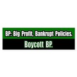 Boycott BP Bumper Bumper Sticker