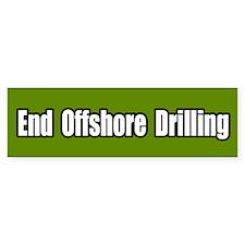 End Offshore Drilling Bumper Bumper Sticker