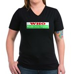 Who Would Jesus Deport Women's V-Neck Dark T-Shirt