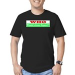 Who Would Jesus Deport Men's Fitted T-Shirt (dark)