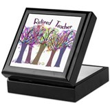 retired teacher Keepsake Box