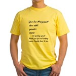 Fill In The Blanks Preggo Tee Yellow T-Shirt
