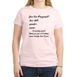 Fill In The Blanks Preggo Tee Women's Light T-Shir