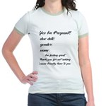 Fill In The Blanks Preggo Tee Jr. Ringer T-Shirt