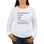Fill In The Blanks Preggo Tee Women's Long Sleeve