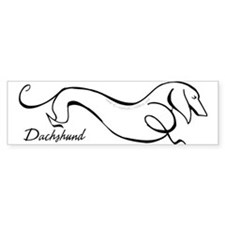 Original Dachshund Line Art Bumper Sticker
