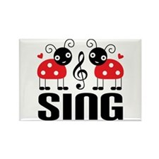 Sing Ladybug Music Rectangle Magnet