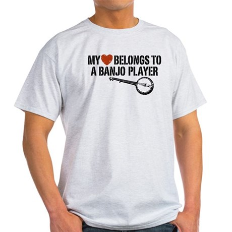 My Heart Banjo Player Light T-Shirt