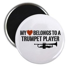 My Heart Trumpet Player Magnet