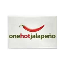 Hot Jalapeno Rectangle Magnet