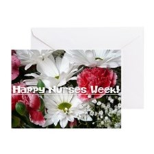 Happy Nurses Week!-Floral Greeting Cards (Pk of 20