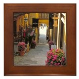 Italy Framed Tile: <br> Bellagio downhill