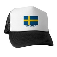 Swedish Flag (w/title) Trucker Hat