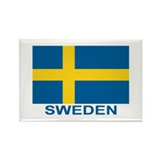 Swedish Flag (w/title) Rectangle Magnet (100 pack)