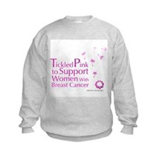 Tickled Breastcancer.org Kids Sweatshirt