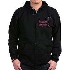 Tickled Breastcancer.org Zip Hoodie (dark)