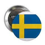 "Swedish Flag 2.25"" Button (10 pack)"