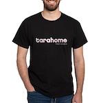 Tarahome White on Pink Black T-Shirt