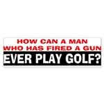 Play Golf? Sticker (Bumper)