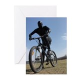 Zentai Bike Rider Greeting Cards (Pk of 20)
