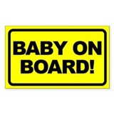 Baby on Board Rectangular Stickers